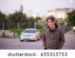 gorgeous forty something man... | Shutterstock . vector #655315753