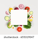 creative layout made of various ... | Shutterstock . vector #655319047