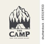 camping park logo. native... | Shutterstock .eps vector #655319533