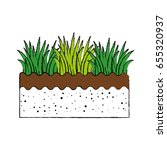 grass and ground | Shutterstock .eps vector #655320937