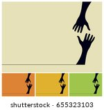 hand silhouettes trying to... | Shutterstock .eps vector #655323103