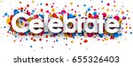 celebrate background with shiny ... | Shutterstock .eps vector #655326403