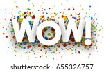 white wow background with shiny ... | Shutterstock .eps vector #655326757