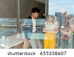 working on new project | Shutterstock . vector #655338607