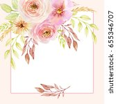 painted watercolor composition... | Shutterstock . vector #655346707