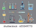 vector set   chemical test.... | Shutterstock .eps vector #655349773