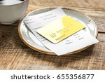coffee and receipt bill for... | Shutterstock . vector #655356877