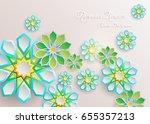 ramadan kareem greeting card...   Shutterstock .eps vector #655357213