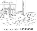 shopping mall graphic black... | Shutterstock .eps vector #655360087