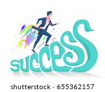 business concept of success.... | Shutterstock .eps vector #655362157