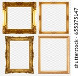 gold picture frame isolated on... | Shutterstock . vector #655375147