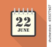 calendar with 22 june in a flat ...