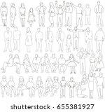 vector  isolated  outline of... | Shutterstock .eps vector #655381927