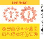 set of icons an apiary and... | Shutterstock .eps vector #655382203