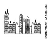 city buildings design | Shutterstock .eps vector #655388983