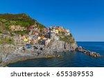 manarola cinque terre liguria... | Shutterstock . vector #655389553