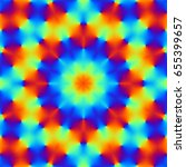 abstract psychedelic pattern.... | Shutterstock . vector #655399657