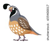 cartoon happy quail | Shutterstock .eps vector #655400017