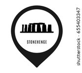 stonehenge icon isolated on... | Shutterstock .eps vector #655403347