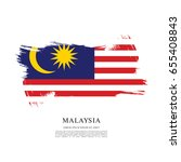 flag of malaysia  brush stroke... | Shutterstock .eps vector #655408843