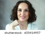 beautiful middle age woman... | Shutterstock . vector #655414957