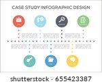 case study infographics concept | Shutterstock .eps vector #655423387