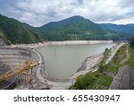 the enguri hydroelectric power... | Shutterstock . vector #655430947
