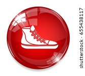 high top sport shoes icon   Shutterstock .eps vector #655438117