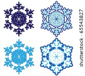snowflakes. vector illustration. | Shutterstock .eps vector #65543827