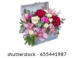 isolated bouquet of bright... | Shutterstock . vector #655441987