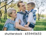 happy young family have fun in...   Shutterstock . vector #655445653
