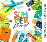 vector banner  poster or flyer... | Shutterstock .eps vector #655454713