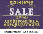 sale font script typeface vector | Shutterstock .eps vector #655456807