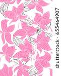 floral vector seamless pattern... | Shutterstock .eps vector #655464907