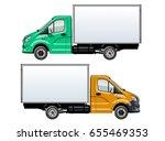 vector truck template isolated... | Shutterstock .eps vector #655469353
