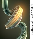 green abstract twisted shape....   Shutterstock . vector #655473373