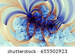 abstract fractal patterns and... | Shutterstock . vector #655502923