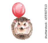 cute hedgehog. cartoon...   Shutterstock . vector #655507513