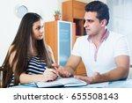 positive family couple making...   Shutterstock . vector #655508143