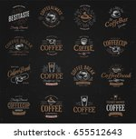 coffee vintage logos set....   Shutterstock .eps vector #655512643