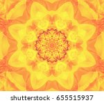 Abstract Kaleidoscope Orange...