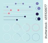 web elements. vector... | Shutterstock .eps vector #655520077