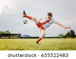 8 years old boy child playing... | Shutterstock . vector #655522483
