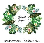 watercolor illustration.... | Shutterstock . vector #655527763