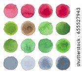 watercolor circle texture.... | Shutterstock .eps vector #655527943