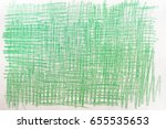 Green Crayon Drawings On White...