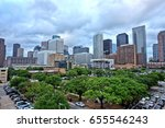 houston downtown skyline with... | Shutterstock . vector #655546243