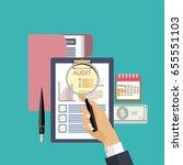 assessment audit concept vector ... | Shutterstock .eps vector #655551103