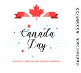 happy canada day  greeting card ... | Shutterstock .eps vector #655564723