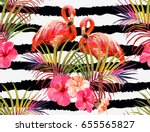 beautiful seamless vector... | Shutterstock .eps vector #655565827